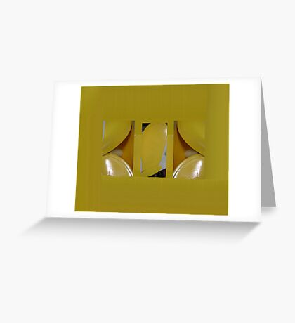 Yellow Placemats Greeting Card