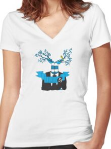 Branch Hands Number1 Women's Fitted V-Neck T-Shirt