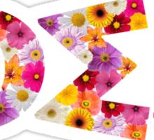 ΦΣΣ Flower Letters Sticker