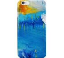 Orange Yellow Blue Abstract Art Print iPhone Case/Skin