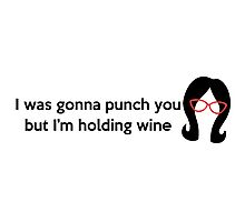 Holding Wine Photographic Print