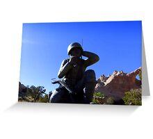 Navaho Code Talkers, Memorial.   Greeting Card