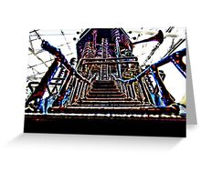 Psychedelic Castle Greeting Card