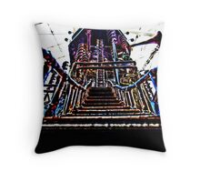 Psychedelic Castle Throw Pillow