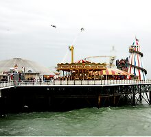 Funfair on the Palace Pier, Brighton, UK by Colin Leal