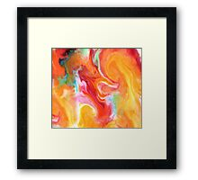 Smudge Paint Abstract #1 Framed Print