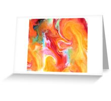 Smudge Paint Abstract #1 Greeting Card