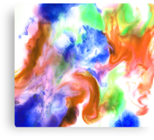 Smudge Paint Abstract #2 Canvas Print