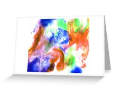 Smudge Paint Abstract #2 Greeting Card