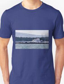 Acadia National Park Winter Time Lighthouse T-Shirt