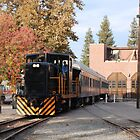 Old Town Sacramento Train by Mark  Christensen
