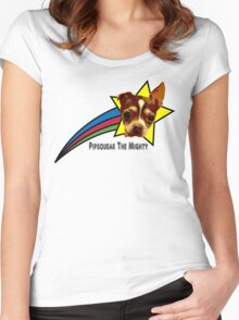 Pipsqueak The Mighty Rainbow Star Women's Fitted Scoop T-Shirt
