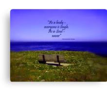Alone - but not Lonely Canvas Print