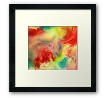 Smudge Paint Abstract #3 Framed Print