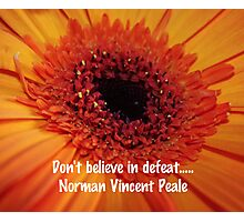 Norman Vincent Peale Quote Photographic Print