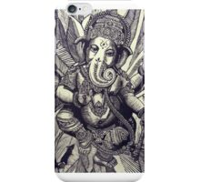 Ganesha Woodcut iPhone Case/Skin