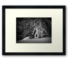 Say hello to winter Framed Print