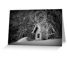 Say hello to winter Greeting Card