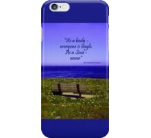 Alone - but not Lonely iPhone Case/Skin