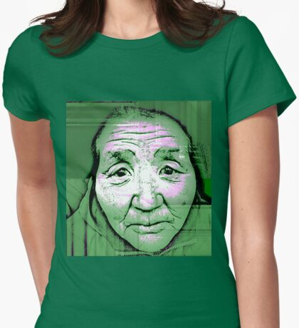 The soft look your eyes had once... Womens Fitted T-Shirt