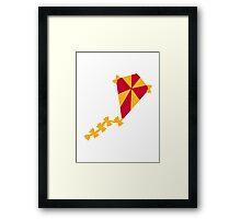 Children kite Framed Print