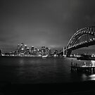 Sydney Harbour Bridge, CBD Skyline and Opera House at night by Aengus Moran