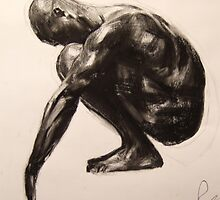 Squatting Figure(Sketch) by Josh Bowe