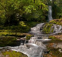 Matai Falls Catlins - New Zealand  by Paul Gilbert