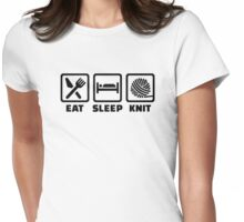 Eat sleep Knit Womens Fitted T-Shirt
