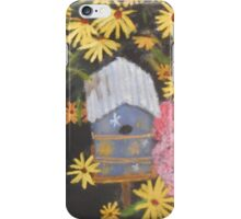 Bird house and Black Eyed Susans iPhone Case/Skin