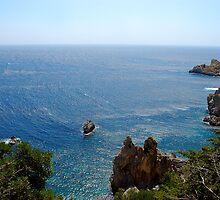 Blue blue Mediterranean from Corfu Island by loiteke