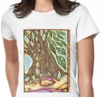 sacred tree Womens Fitted T-Shirt