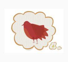 Red bird One Piece - Short Sleeve