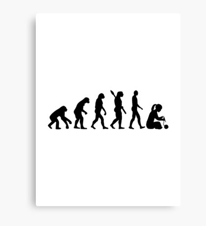 Evolution Knitting Canvas Print