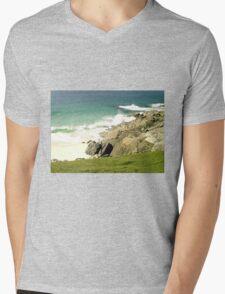 Rocky Beach Mens V-Neck T-Shirt