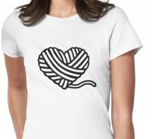 Wool heart Womens Fitted T-Shirt