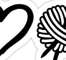 I love wool knitting needles Sticker