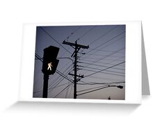 Crosswalk light Greeting Card