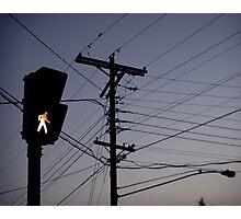 Crosswalk light Photographic Print