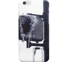 Frozen crosswalk light iPhone Case/Skin
