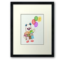 Balloon Bear Framed Print
