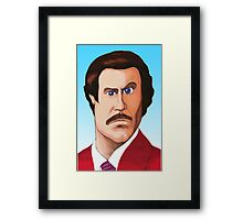 RON BURGUNDY Framed Print
