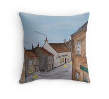"""Off to the pub"" Throw Pillow"
