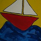 A Jolly red Yacht by DeborahDinah