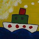 Little Boat chugging along by DeborahDinah