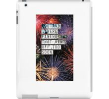 Fall Out Boy Fourth of July iPad Case/Skin