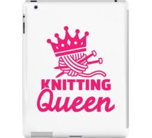 Knitting queen iPad Case/Skin