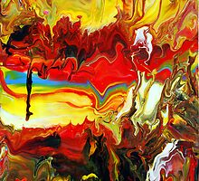 Abstract Rainbow Fluid Painting by markchadwick