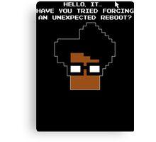 8 Bit Retro Moss Unexpected Reboot T Shirt Canvas Print