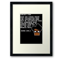 Subject Fire Moss T Shirt Framed Print